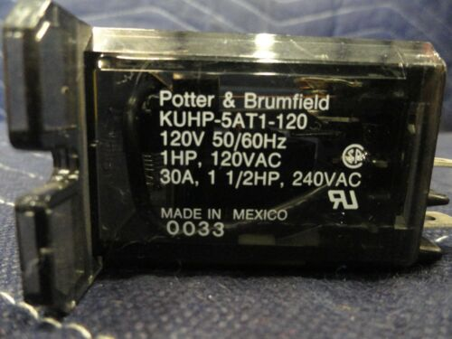 Petter /& Brumfield KUHP-5AT1-120 Power Relay Spdt 120Vac 30A Flange