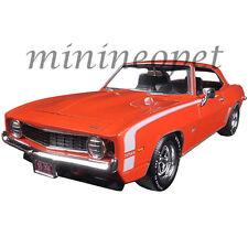 AUTOWORLD AW24004 CUSTOM 1969 CHEVROLET CAMARO SS 1/24 DIECAST MODEL CAR ORANGE