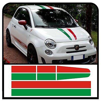 Adesivo adhesive sticker cofano Abarth Fiat 500 595 695 striscia strip hood