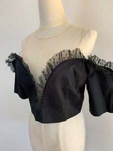 Alice-McCall-Women-039-s-Black-Cotton-Lace-Bustier-14-A13