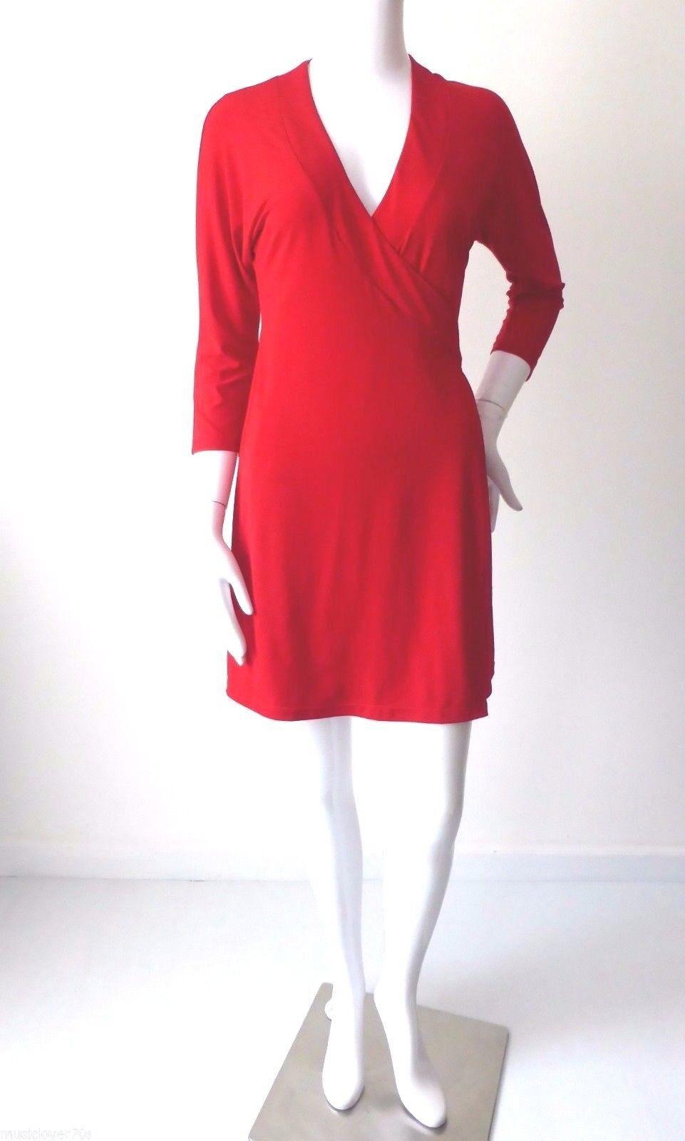 PILGRIM -  NWT Größe 10  US 6 Dress Made in Australia rot Wrap Mini