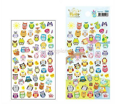 Multi-colour Owls Photos Diary Soft Foam Decals Stickers db0717360143