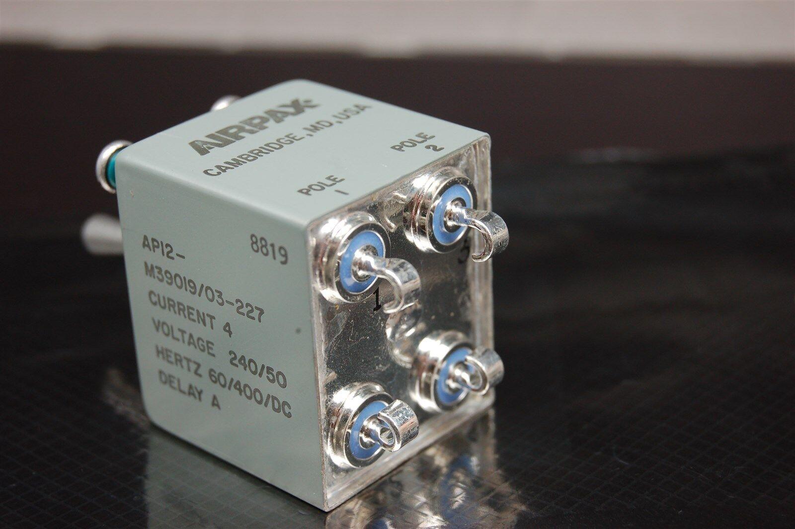 Airpax 2 Pole 240vac 50vdc 4a 09 Sec Time Delay Circuit Breaker Timedelaycircuit M39019 03 227 Ebay