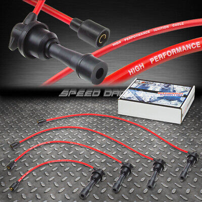 8MM SILICONE SPIRAL CORE SPARK PLUG IGNITION WIRE CABLE ECLIPSE//TALON//LASER RED
