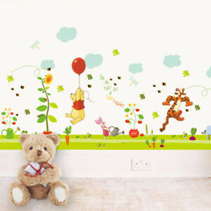 Image Is Loading Cute Winnie The Pooh Nursery Room Wall Decal