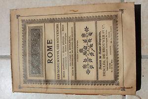 ROME, ses monuments, ses souvenirs - abbé BOULFROY - ed. Desclée de Brouwer 1903 - France - Époque: 1900 1960 Sujet: Voyages et exploration - France