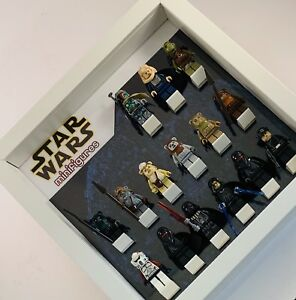 Display frame case for LEGO STAR WARS Minifigures