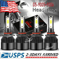 Isincer 90059006 Combo Cree Led Car Headlight Kit Highamplow Beam Light Bulbs