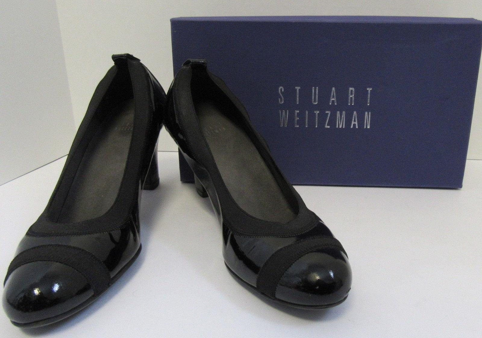 STUART WEITZMAN woman's EASILY schwarz patent Leder pumps Größe 7.5 N