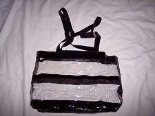Vintage Mary Kay Black Clear Vinyl Tote Bag Purse NEW