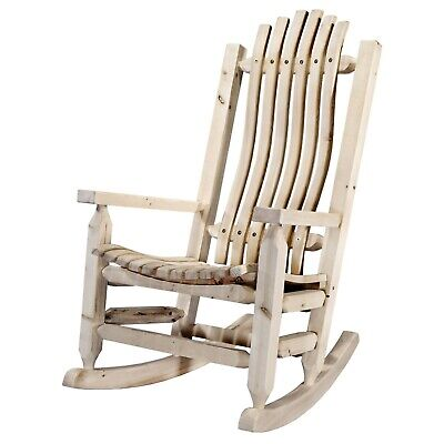 Rocking Chair Unfinished Rough Cut