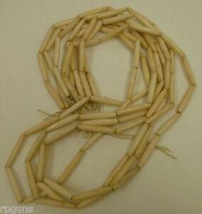 100-BUFFALO-THIN-Bone-Hairpipe-ANTIQUED-Bead-1-inch-Craft-Jewelry-Native-Dress