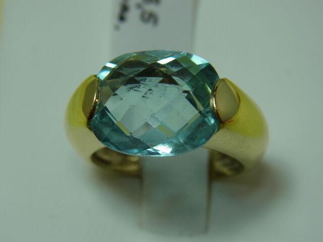750er yellowgold mitTopas Stein Ringgroße 53,5  Stein 12x12 mm Gewicht 7,6 gramm