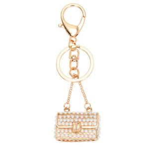 Crystal-Rhinestone-Purse-Keychain-Keyring-Key-Ring-Chain-Bag-Charm-Pendant-NEW