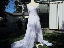 Wedding or Ball Gown, White, One Shoulder, Mermaid length, Sequined, new
