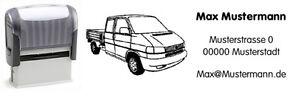 VW-Bus-T4-Doka-Motiv-Automatik-Stempel-mit-Wunschtext