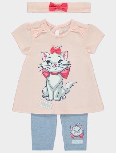 Leggings and Headband Outfit Newborn 18m Baby Girl  Disney Aristocats Pink Top
