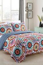 California Design Den Citi Zone Full/Queen 3pc Cotton Quilt Set -  Multi Colored