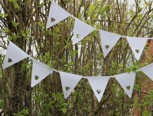 Heart Bunting Banner Garland Wedding Party Christening Decoration Multi Colours