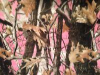 Pink Hunting Camouflage Fleece Fabric - Camo811