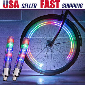 Colorful LED Wheel Valve Stem Cap Lamp Neon Light Bike For Bicycle Motorcycle