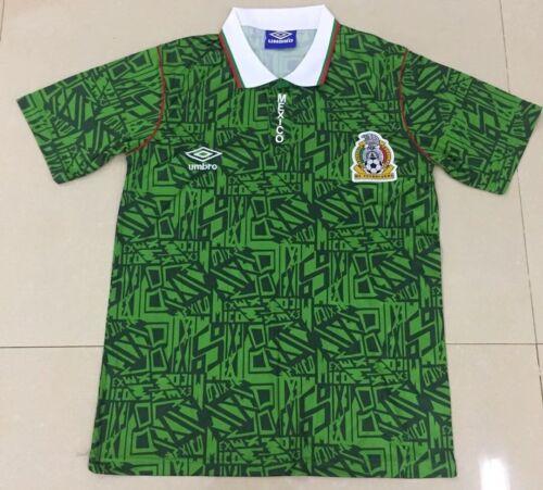 Size S M L XL Details about  /MEXICO 1994 HOME RETRO SHIRT