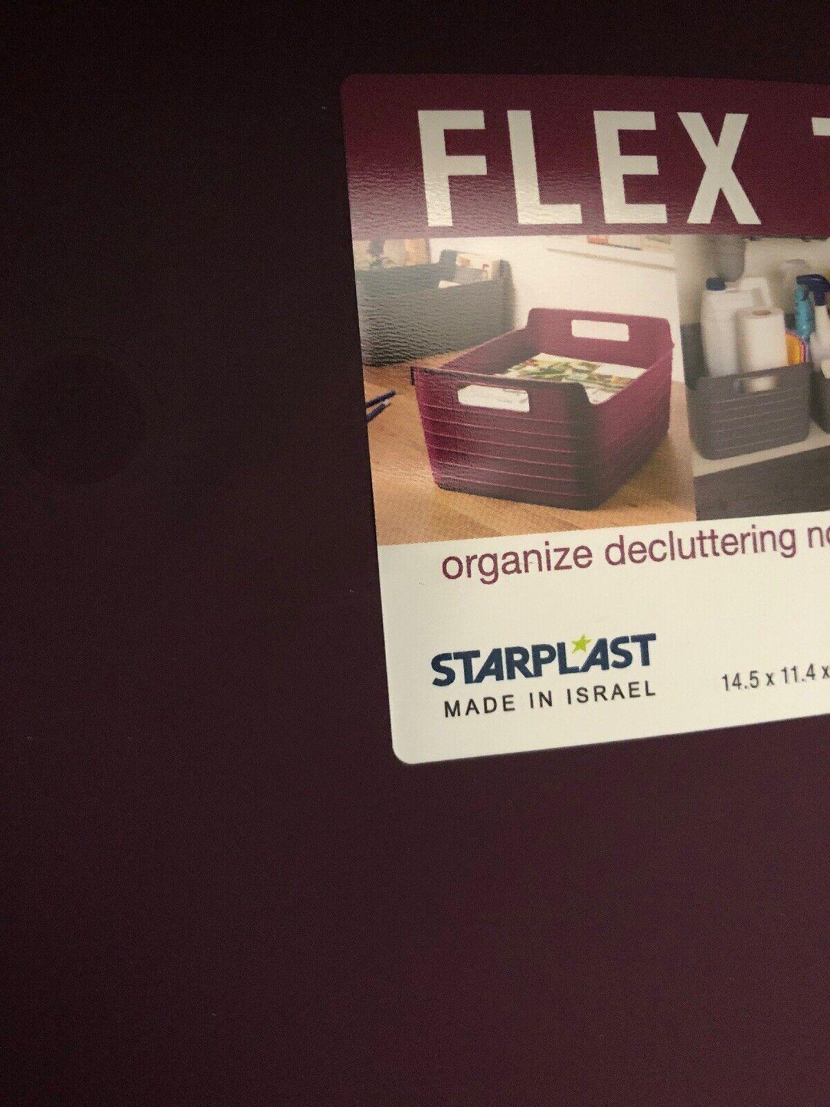"5X STARPLAST FLEX TRAY 14.5/""X11.4/""X6.3/"" GREAT FOR CAR HOME OFFICE DRK PURPLE"