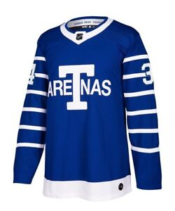 timeless design 85633 b035a Details about Toronto Maple Leafs Auston Matthews 100th Year Arenas Pro  Jersey 50/M