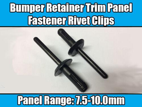 20x Clips For Ford Bumper Trim Panel Fastener Rivet Black Plastic N804759-S