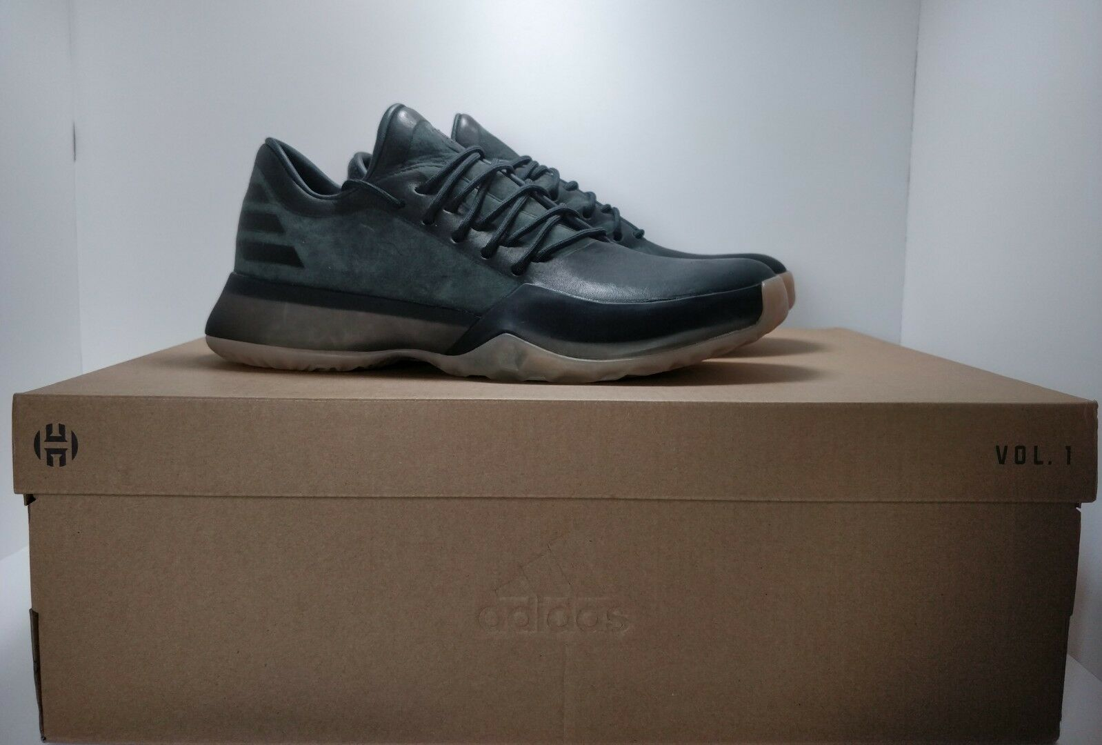 Adidas James Harden Vol 1 Milled Horween Leather Boost FAMILY and FRIENDS 6 RARE