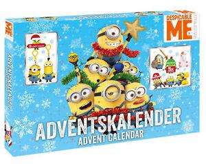 MINIONS DESPICABLE ME Adventskalender Weihnachtskalender Craze NEU