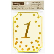 New in Pack Celebrate It™ Occasions™ Table Card Numbers, Gold Dots 1-20