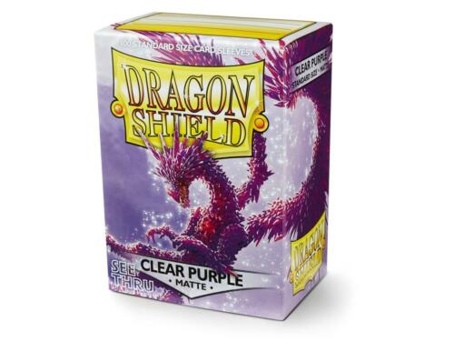 Matte Clear Purple 100ct Dragon Shield Sleeves Standard FREE SHIPPING 5/% OFF 2+