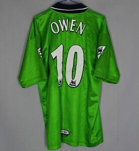 LIVERPOOL ENGLAND 1999/2000 AWAY FOOTBALL SHIRT JERSEY REEBOK SIZE L #10 OWEN