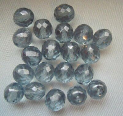 Pack Von 20 Perlen Krakelee aus Glas 10mm Dunkelblau