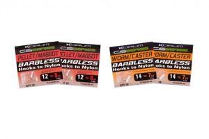 Korum CS Series Barbless Hooks To Nylon Full Range **VARIOUS SIZES**