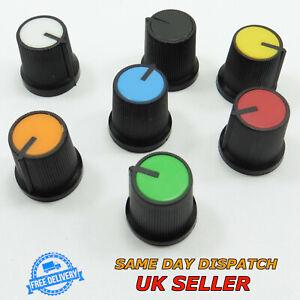 15mm Aluminum Knob Volume Rotary Switch 6mm Potentiometer Sound Control Black