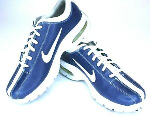 Details about Nike Air Max Giddy Up Women Golf Shoe 5.5 Leather Scorpion Spike Blue 307422-41