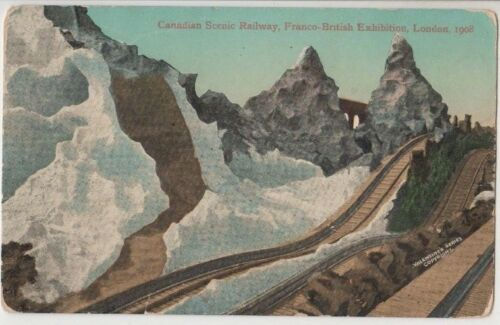 Canadian Scenic Railway 1908 Franco British Exhibition London postcard