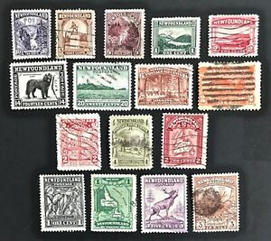NEWFOUNDLAND-Vintage-Stamp-Collection-Used