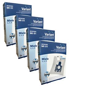 20 Staubsaugerbeutel Variant MI01 Groß geeignet für Miele S 831