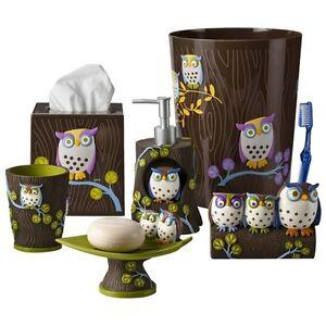 Awesome Owls Bath Coordinates Ebay