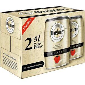 Warsteiner-2x5-Liter-Fass-Partyfass-Bier-Bierfass-mit-Zapfhahn