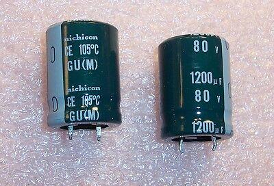 50 Nichicon 1200uF 25V low profile  Low impedance 105℃ Electrolytic Capacitors