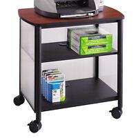 Mobile Laminate Top Printer Stand Fax Machine Home Office Cart Steel Frame Shelf