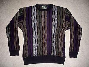 Norm-Thompson-Sweater-3D-Textured-Woven-Mercerized-Cotton-Men-039-s-Size-M-Medium