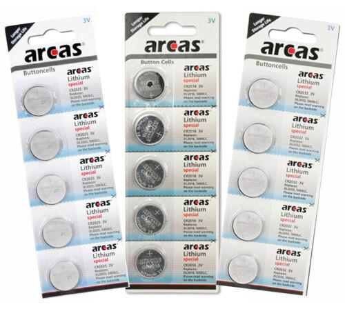 CR2025 CR2016 CR2032 DL2032 Knopfzellen Batterien ARCAS Produktion aus 2020