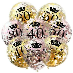 10pcs-12-034-Gold-Birthday-Crown-Theme-Balloons-16-18-21-30-40-50-60th-Party-Decor