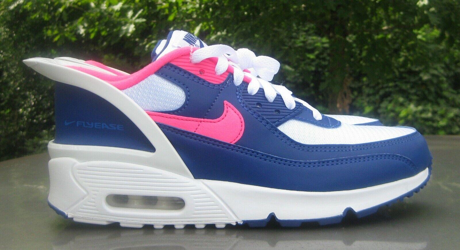 Nike Air Max 90 flyease bleu/rose CV0526-101 Taille 7Y jeunesse/Men's 7/Femmes 8.5
