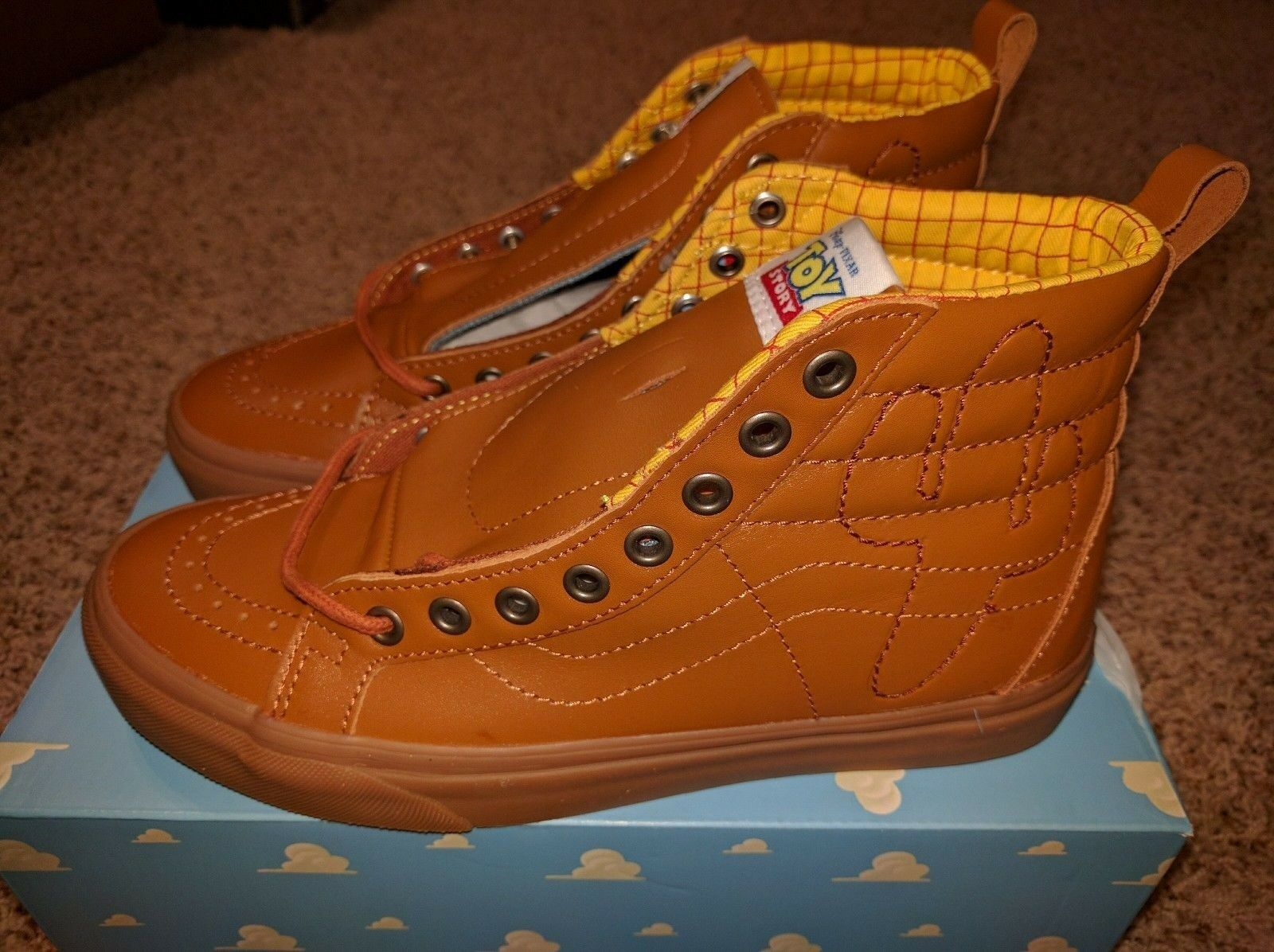 Vans Sk8 Hi Toy Story Woody Boot Land Shoes Brown Disney ANDY Sneakerboots NEW